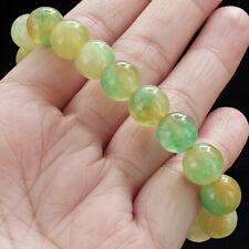 10mm Man Made Yellow Green Round Bracelet Chain BHG1