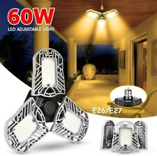 60W E27 Deformable LED Garage Light Ceiling Fixture Lights Shop Workshop Lamp