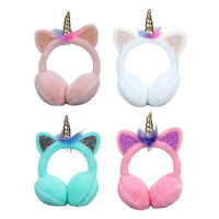 Winter Unicorn Kids Animal Earmuffs Headband Faux Fur Ear Muffs Warm  Soft