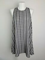 All About Eve MYER Black & White Striped Tent Drape Beach Dress Women's Size 10