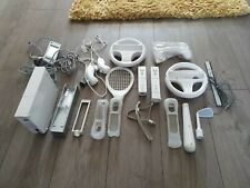 Nintendo wii console and various  accessories