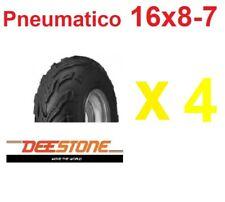 4 Pneumatici 16x8-7 Quad Atv 7 Pollici Gomme Copertoni Deestone UV978