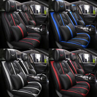 Deluxe Leather Universal 5-Seats SUV Car Seat Cover Front Rear Cushion Full Set