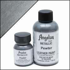 Angelus Metallic Pewter acrylic leather paint 1 oz.