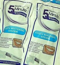 """(2) Natural White """"5 Minute"""" TEETH WHITENING Kits Bright SMILE Fast NEW #1 Brand"""