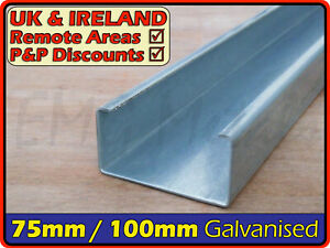Galvanised Steel Lipped Channel║75mm100mm⫽3x2 4x2║C U section, cable tray