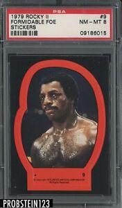 1979 Rocky II Stickers #9 Formidable Foe PSA 8 NM-MT