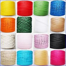 Paper Raffia Ribbon 28 Colours Decorating Flowers Gifts Crafts Scrapbook Natural