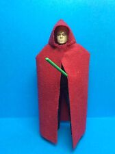 VINTAGE STAR WARS KENNER ACCESSORY-LUKE SKYWALKER JEDI REPRO CLOAK/CAPE (RED)