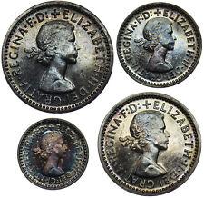 More details for 1962 maundy set (w/ original case) - elizabeth ii british silver coins - superb