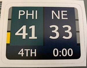 """Philadelphia Eagles 2018 Super Bowl Champions 52 Decal / Sticker  Scoreboard 4"""""""