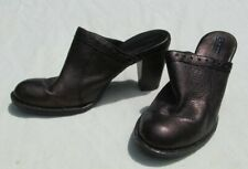 7 M 38 Womens Born Lella Mules Clogs Shoes Bronze Brown Leather Block W91645