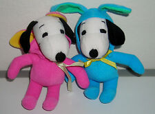 "Peanuts Snoopy Easter Bunny Pink & Blue Rabbit Costume 6"" Plush Toys"