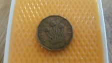 Great Britain 1945 three pence - King George VI coin.