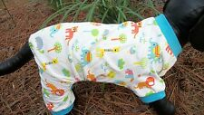 "dog pajamas,cozy cotton, ""All God's Creatures"",XS**(read details for size)"