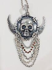 Vintage Punk Rock Long Chain Pendant Gothic Skull pendant Necklace Fashion Style