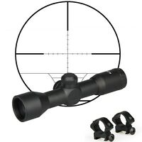 4 x 32 Telescopic Sight Scope with 20/11mm Picatinny Rail Mounts For Air Rifle