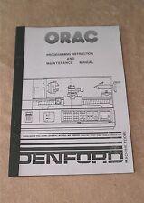 Denford ORAC CNC Lathe Manual (Worldwide Posting)