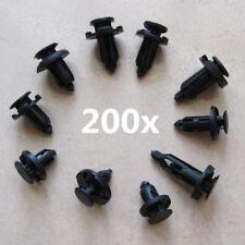 200x Plastic Fastenser Clip Push Retainer Universal Car Bumper Fender 7.5-10mm
