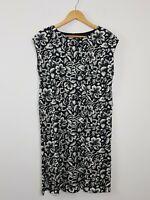 COUNTRY ROAD Black Tropical Floral Shift Tent Dress Women's Size XS Cotton Soft