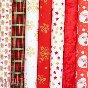 Christmas Felt Backed Fabric - Xmas Halloween Autumn Rainbow Bow Fabric Felt