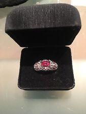 $1495 Rubelite Raspberry Tourmaline Ring 3.64 TCW Pink Tourmaline