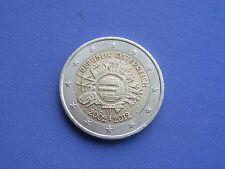 Oesterreich 2012  2 Euro   10 Jahre Euromünzen  Umlaufmünze