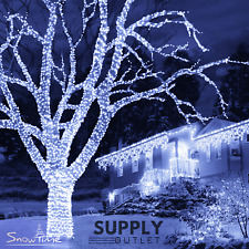Snowtime 300 Connectable ICE White LED Lights Christmas Xmas Decorations 30M