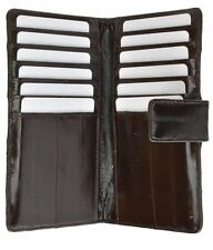 Genuine eel skin soft credit card holder wallet with snap button by Marshal®