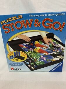 Ravensburger Puzzle Stow & Go Space-Saving Tube, Mat & Straps Up To 1500 Pcs.