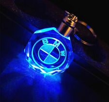 New LED car logo keychain crystal light changing car key Chain keyring BMW