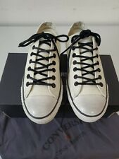 John Varvatos Converse White Leather Sneakers New Size 9