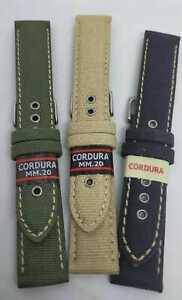 CINTURINO CORDURA WATER PROOF FORI CON RINFORZO IN METALLO 18-20-22mm KHAKI