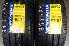 2x Michelin Agilis 225 75 16c 118/116R