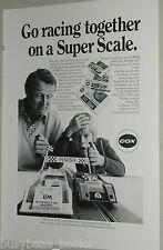 1973 Cox advert, Cox Slot Car Racing sets 1:43 scale