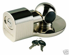 """Master Lock - Fits 1-7/8"""" & 2"""" Couplers, Chrome Plated Trailer Locks 377DAT"""