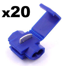 20x Blue Snap-Lock ScotchLok Electrical Wire / Cable Splice and Feed Connectors
