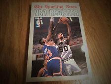 1990 - 1991 OFFICAIL NBA REGISTER THE SPORTING NEWS DAVID ROBINSON SAN ANTONIO