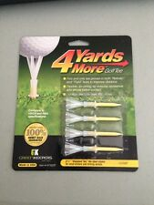 """4 Four Yards More 2 3/4"""" Golf Tees 4 pack YELLOW"""