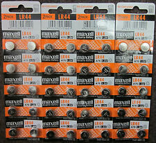 40 Fresh Genuine Maxell LR44 (A76) 357 1.5V Alkaline Coin Cell Button Battery