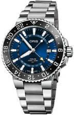New Oris Aquis GMT Date Blue Dial Stainless Steel Men's Watch 79877544135MB