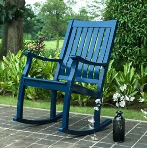 Member's Mark Painted Porch Rocker Wood Chair Outdoor Mulit Colors FREE SHIPPING
