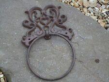 Victorian Style Cast Iron Towel Ring - Bathroom / Farm house / Vintage / Rail