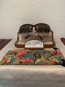 Maui Jim 'LAGOON' MJ189-26 Brown Frame w/ HCL Bronze Lens + Pouch 'EXCELLENT'