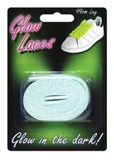 GLOW IN THE DARK SHOE LACES IN GREEN 99CM LONG NOVELTY FUN GLOWING TRAINER LACE