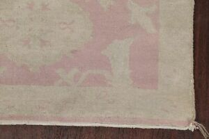 Antique 3x5 VEGETABLE DYE Muted Pink/Beige All-Over Oushak Turkish Area Rug Wool
