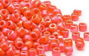 200 Rainbow Orange Matsuno # 6 Glass Seed Beads Jewelry Supply