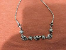 """BRIGHTON Silver Plated Necklace  Adjustable 16""""To 18"""" Excellent Condition"""