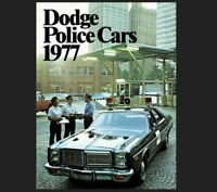 1977 Dodge Police Car PHOTO Vintage Ad Policeman Pursuit Vehicles