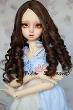 1 3 8-9 Bjd Wig Dal Pullip SD LUTS DOC DD DOD MSD Dollfie Doll wigs brown C17